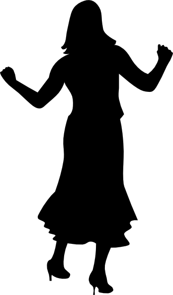 Vector dancer dance person. Dancing gal clip art