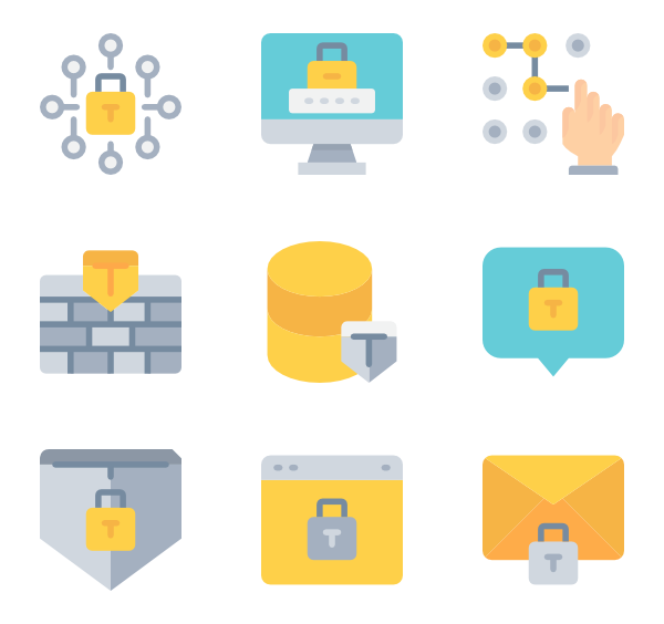 Vector defense. Technology icons free data