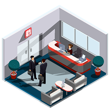 Vector designer isometric. D illustration interior of