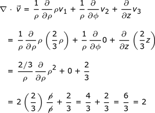 Vector divergence. Finding the of a