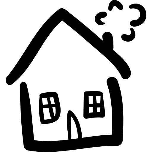 Vector doodle house. Hand drawn construction free