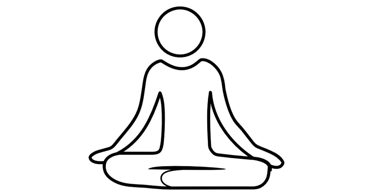 Yoga clip mental health. Meditation posture free vector