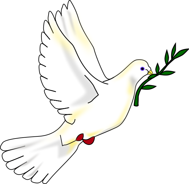 Vector doves church. Images of a peace