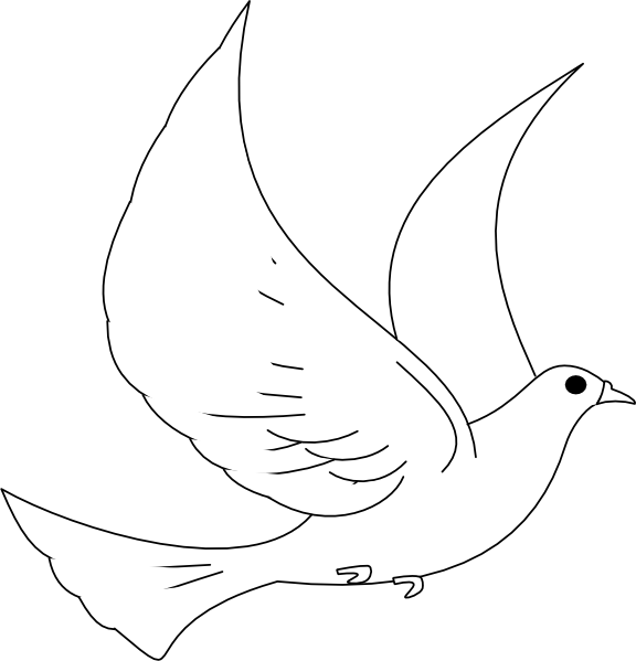 Baby turtle dove clip. Vector doves cross banner black and white