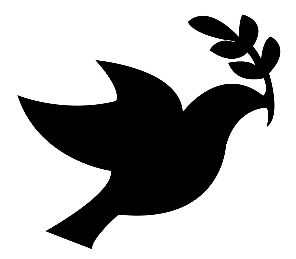 Vector doves religious. File black peace dove
