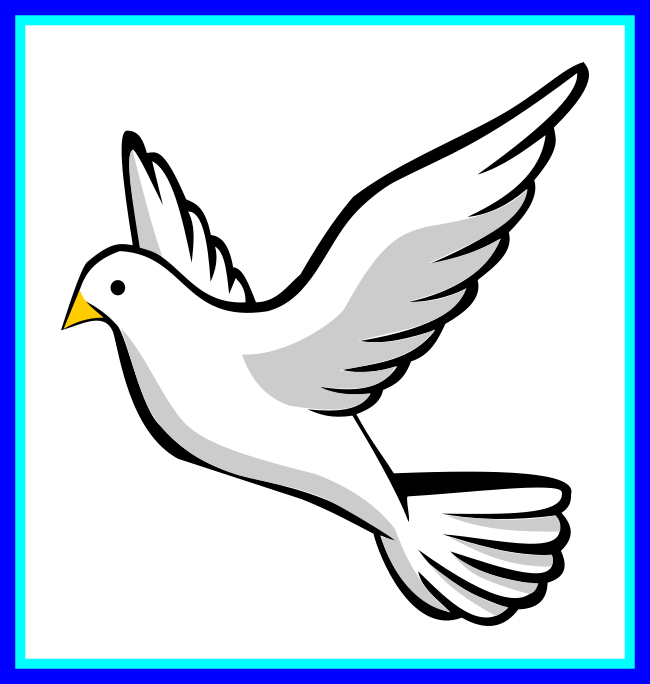 Cross clip dove. Confirmation and freeuse download