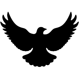 Vector doves svg. Free flying dove silhouette