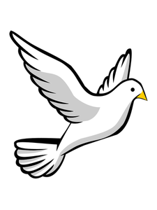 Vector doves template. Image of a flying
