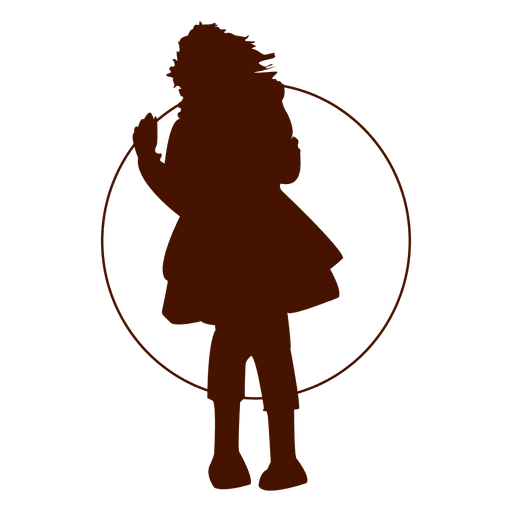Vector dreads png. Girl playing hoop silhouette