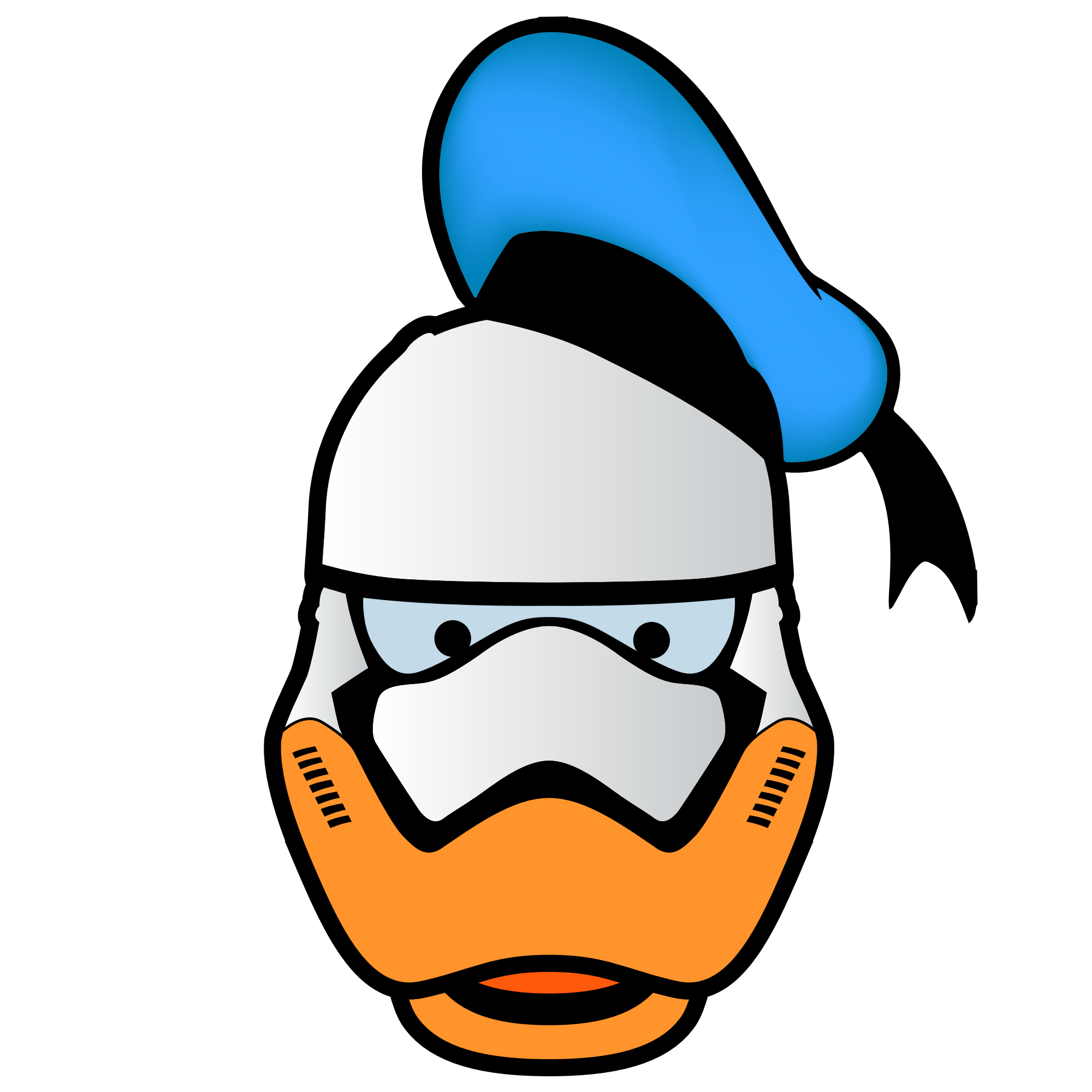 Vector duck. Free picture famous cartoon