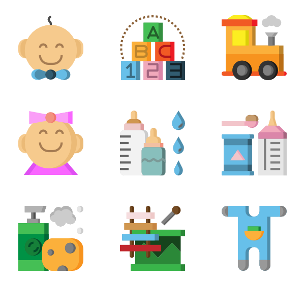 Vector duck ruber. Baby icons free