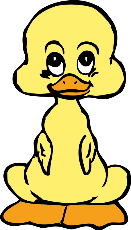 Vector duck duckling. Free baby psd files