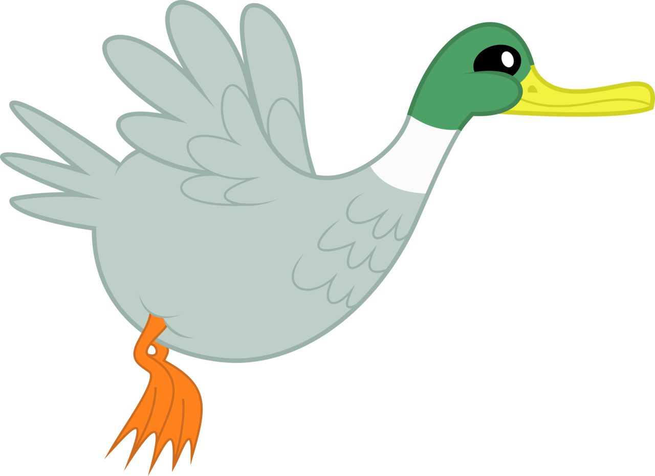 Absurd res animal. Vector duck transparent image transparent library