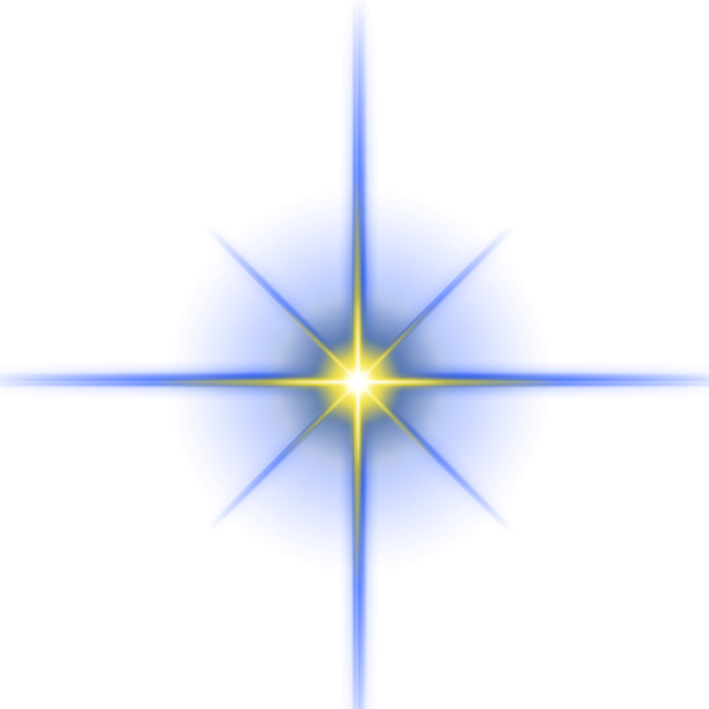 Vector effect dynamic. Star light png free