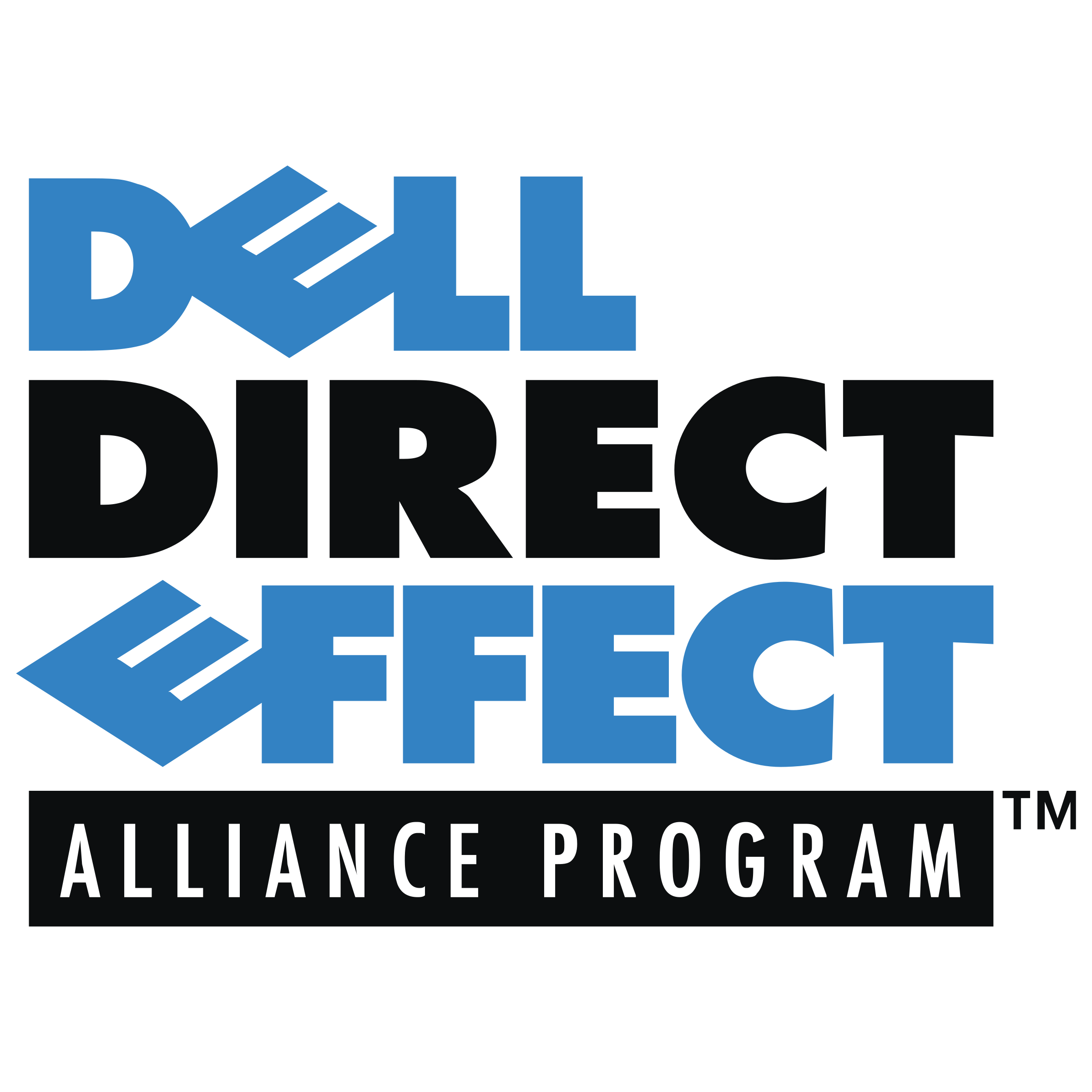 Vector effect text. Dell direct logo png