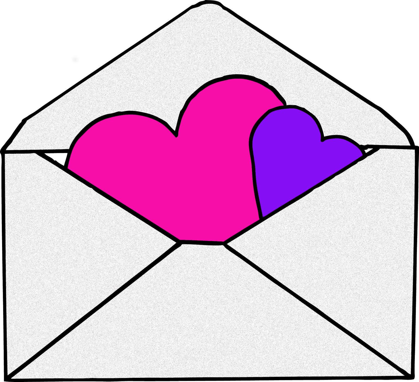 Vector envelope cute. Clipart heart borders vectors
