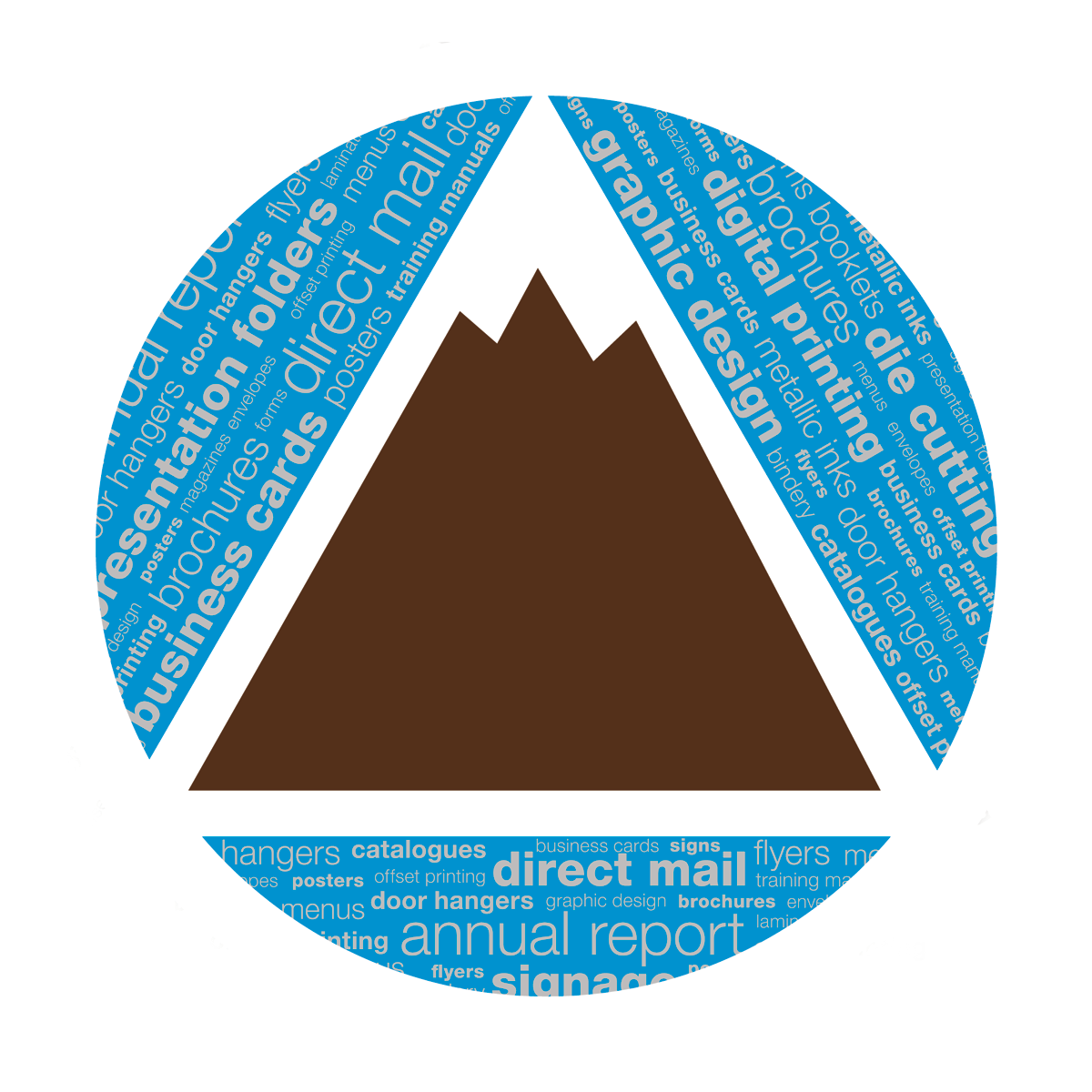 Vector envelope die cut. Direct mail mountain view