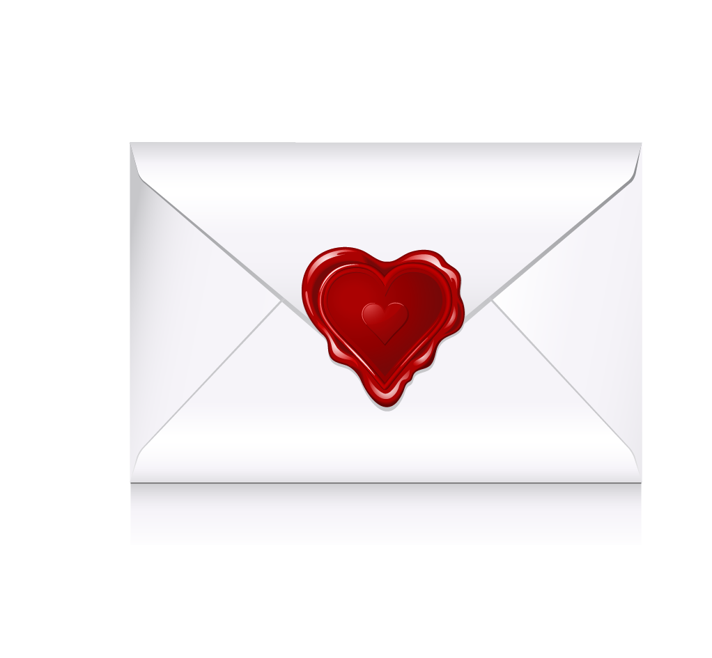 Red love shaped transprent. Vector envelope heart png free library