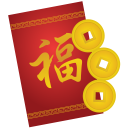 Vector envelope red. Icon chinese new year
