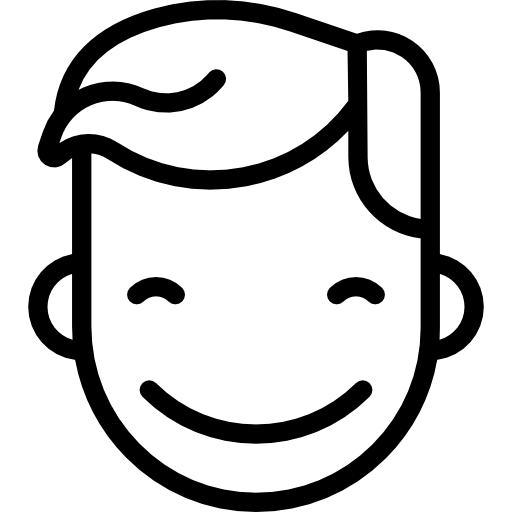 Vector expressions smiles. Boy broad smile icons