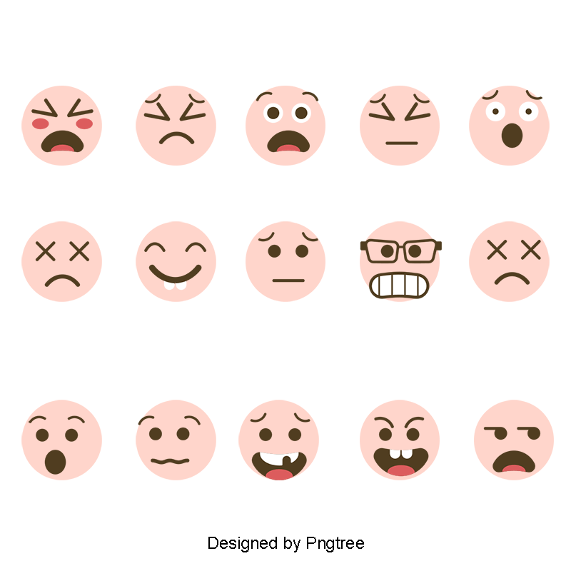 Vector expressions smiles. Yellow emoticons expression symbol
