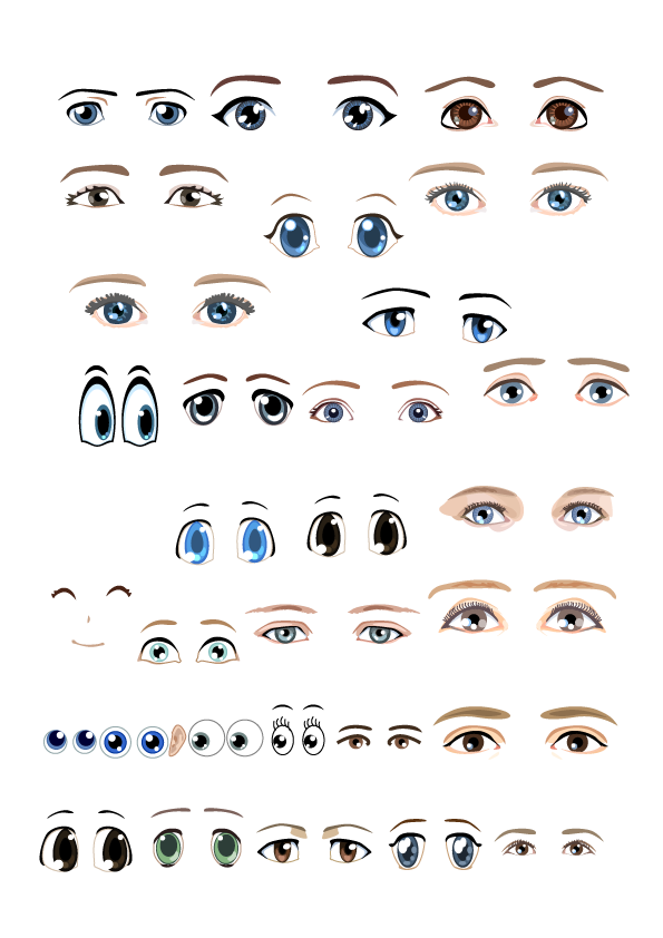 Vector expressions mood. Clip art various emotional