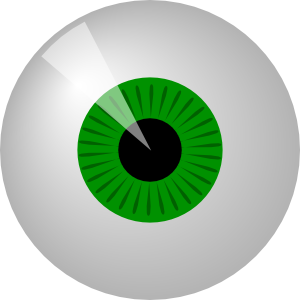 Vector eyeball comic. Green eye clip art