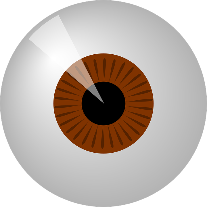 Vector eyeball psd. Graphic group with items
