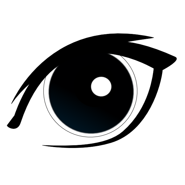 Vector eyeball simple. Graphic library realistic