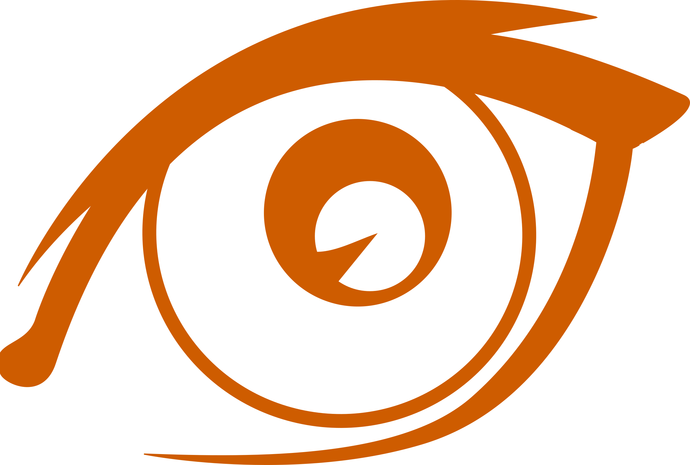 Vector eyeball simple. Graphic library brown