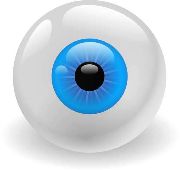 Colorful vector eye. Eyeball graphic library