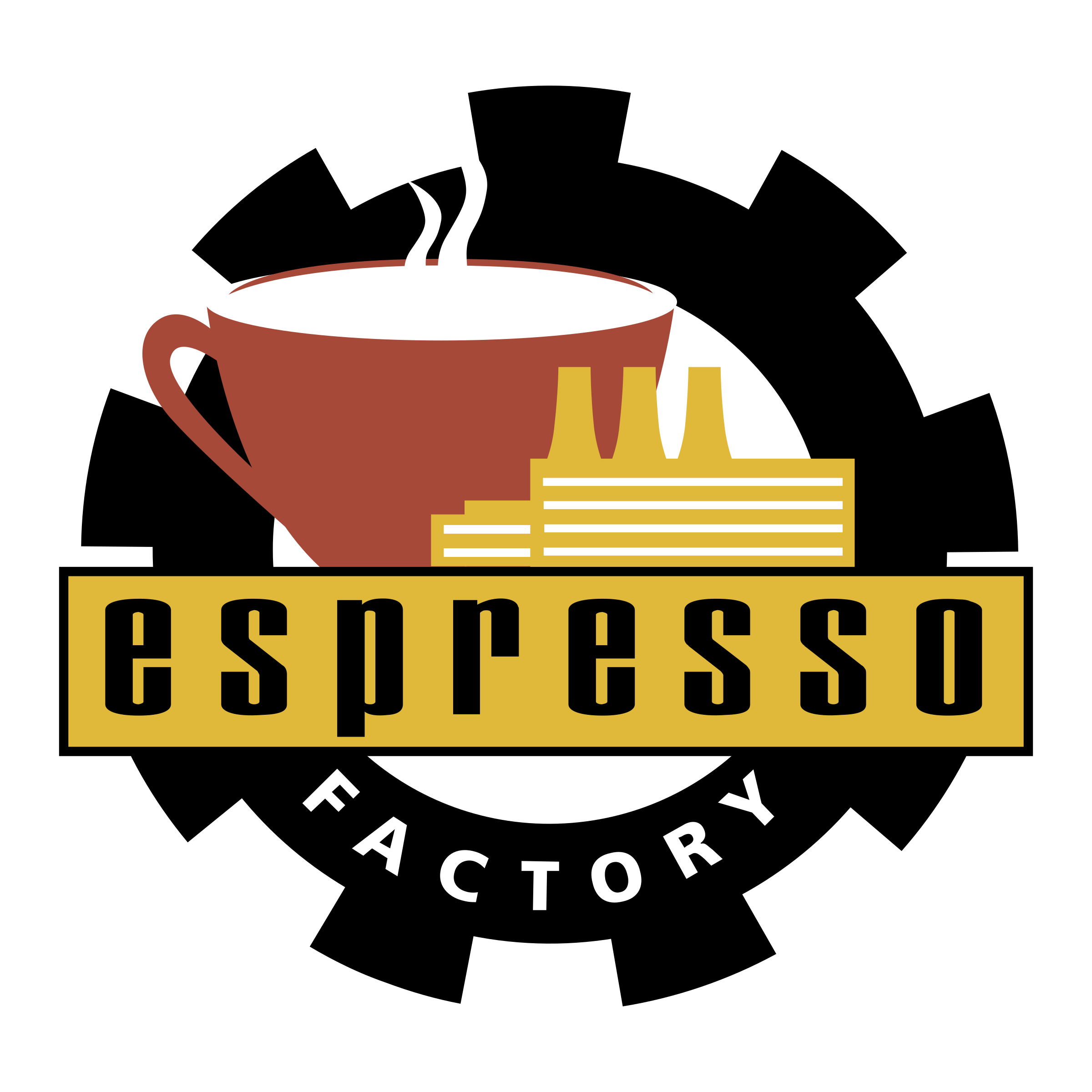 Vector factory coffee. Espresso logo png transparent