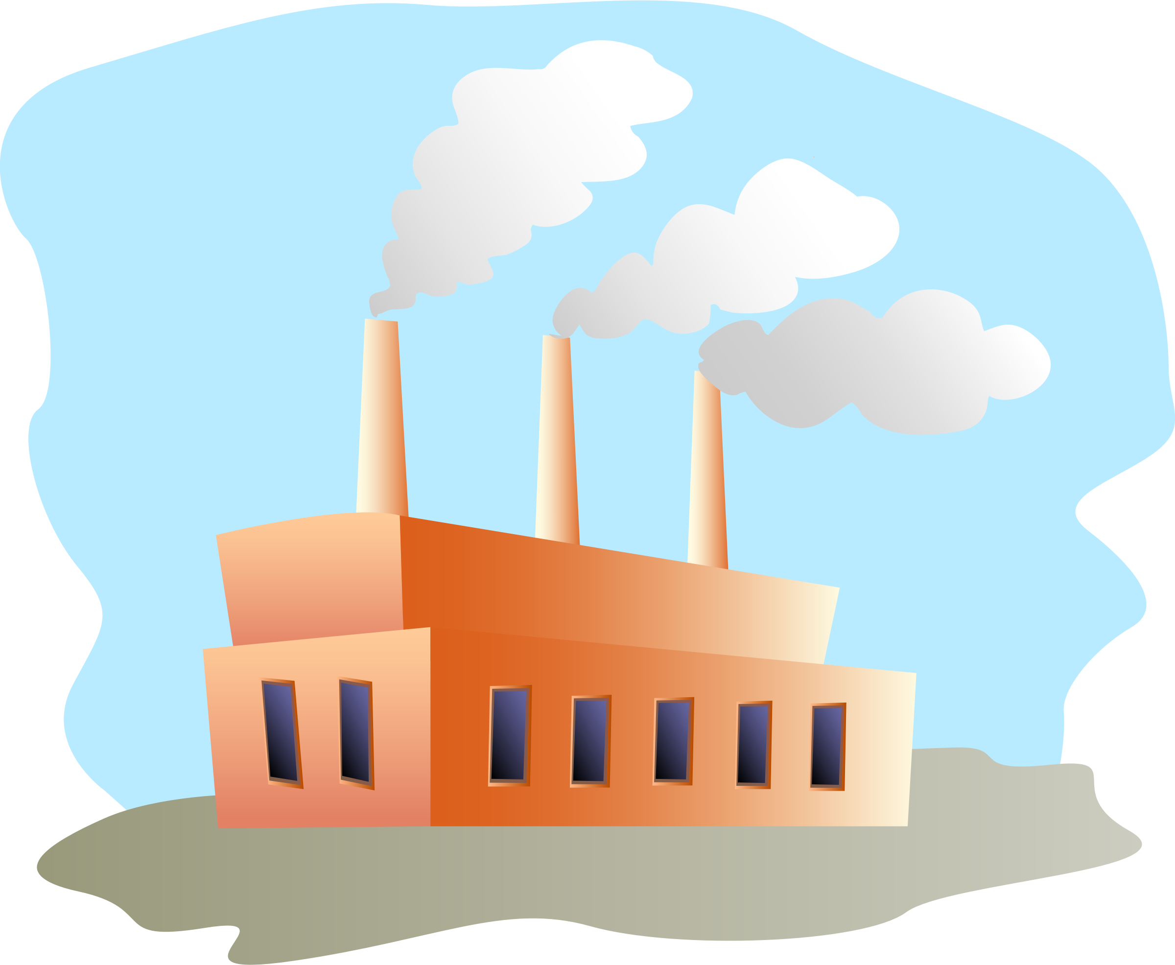 Vector factory inside. Clipart old building pencil