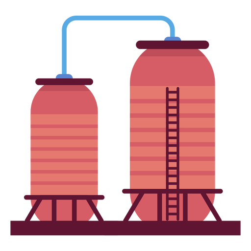 Vector factory inside. Liquid containers illustration transparent