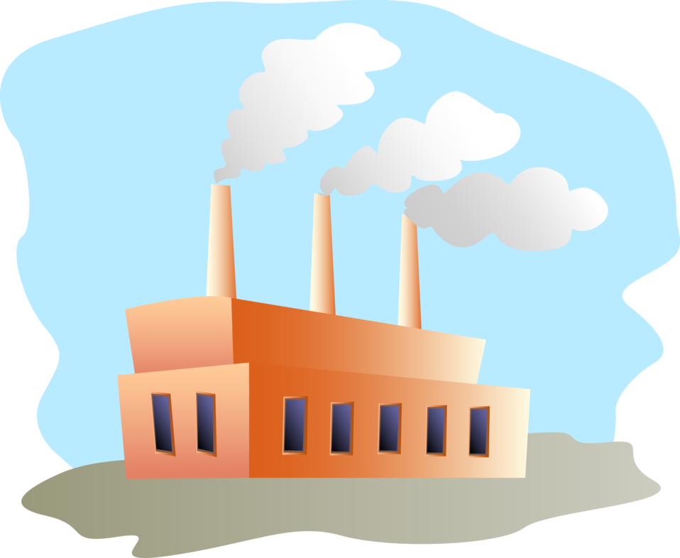 Vector factory pabrik. Collection of free factories