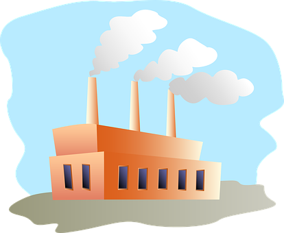 Vector factory pollution. Collection of free factories