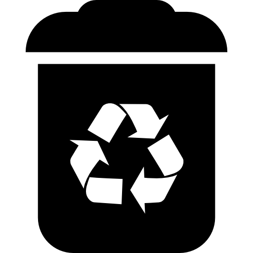 Vector factory recycling. Recycle bin interface symbol