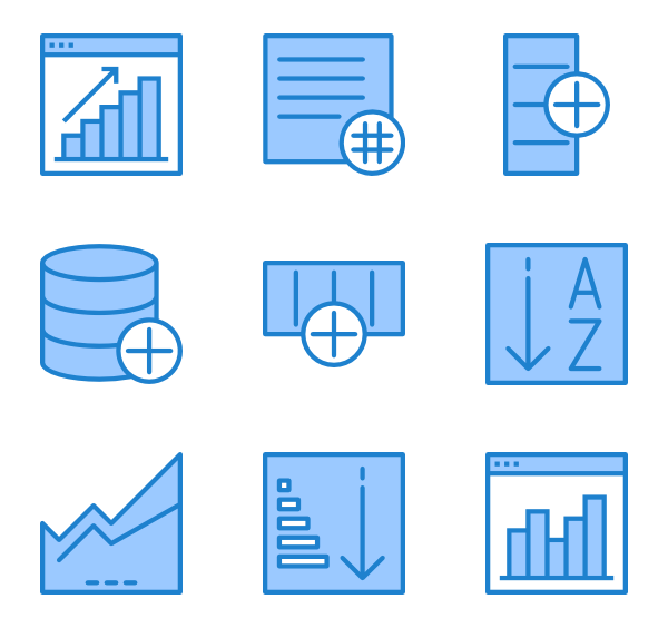 Vector filter. Icons free data
