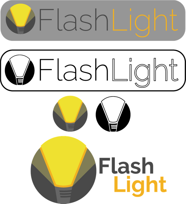 Logo proposal steemit the. Vector flashlight animated black and white stock