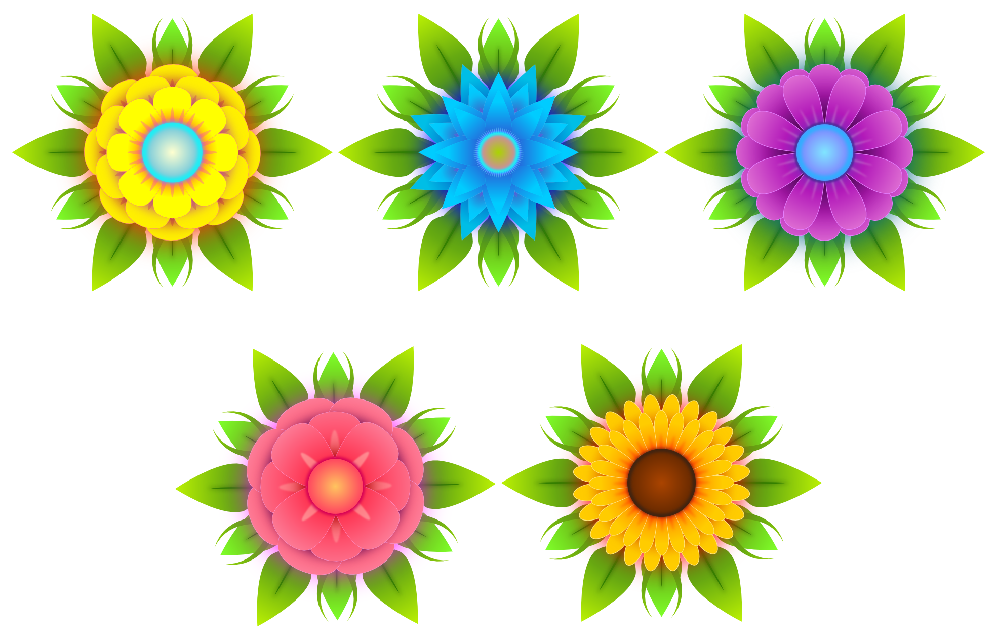 Vector flowers png. Abstract clip art x