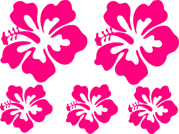Hibiscus clip art at. Vector flores png jpg library stock