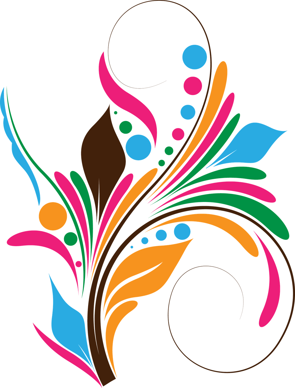 Vector flower design png. Download free coreldraw tutorials