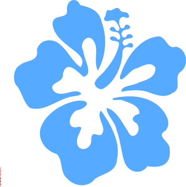 Vector flower png. Blue elegant this time