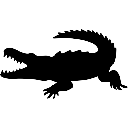 Vector footprints crocodile. Animal silhouettes page silhouette
