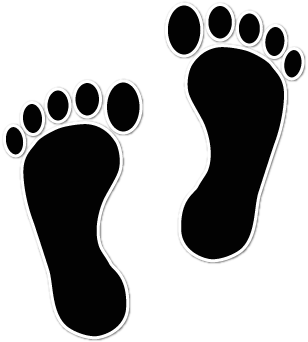 Vector footprints laxmi. Collection of free footed