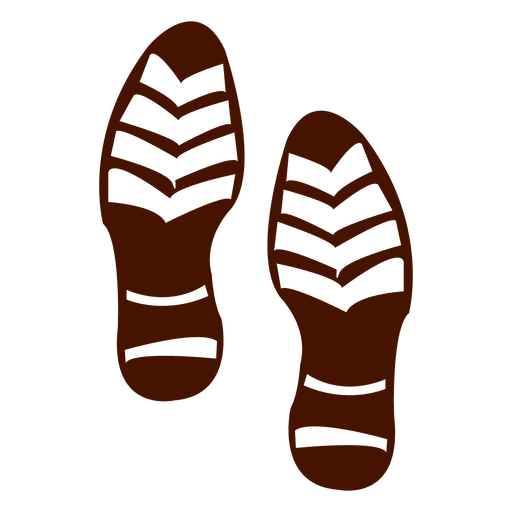 Vector footprints shoe. Silhouette of human shoes