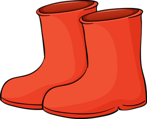 Vector footprints welly. Wellington boots free images
