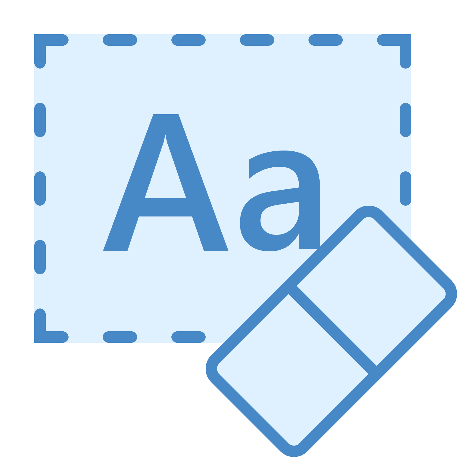 Clear vector blue. Formatting icon free download