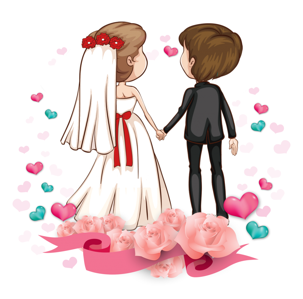 Vector formatting couple. Wedding clipart free download