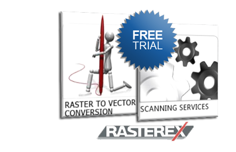 Vector scan raster. Cad conversion we provide